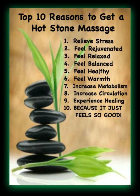 The Benefits of a Hot Stone Massage - Revive Beauty & Tanning